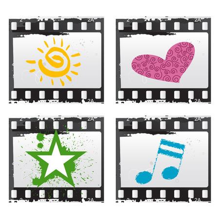 film with symbols  Vector