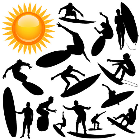 individual sports: surfing