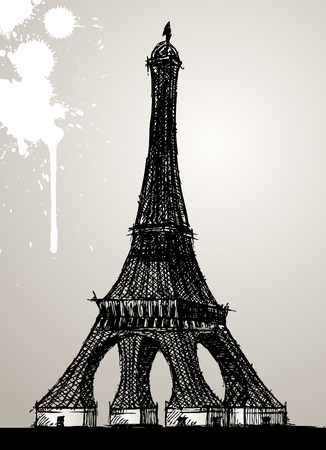 eiffel tower  Stock Vector - 8967424
