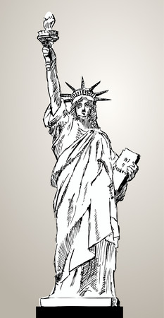 liberty status illustration  Vector