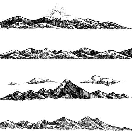 berg set illustratie Vector Illustratie