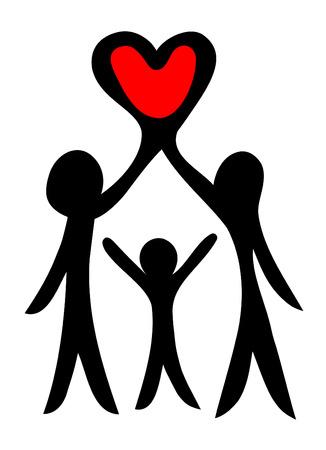 parent with child: happy family symbol