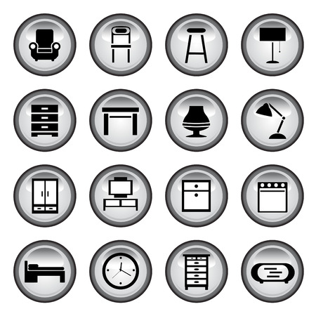 ensemble de boutons de meubles