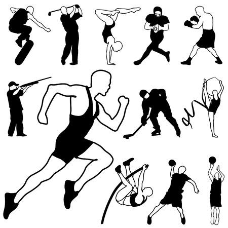 individual sports: sport icons set Illustration