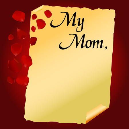 mothers day letter vector  Vector