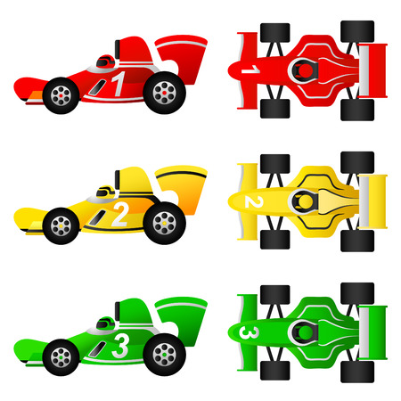 rally: formula car set  Illustration