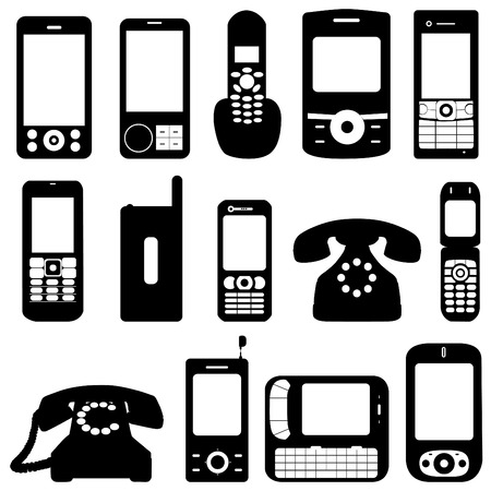 black phone and call: phone set