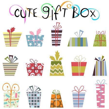contraste: Caja de regalo lindo