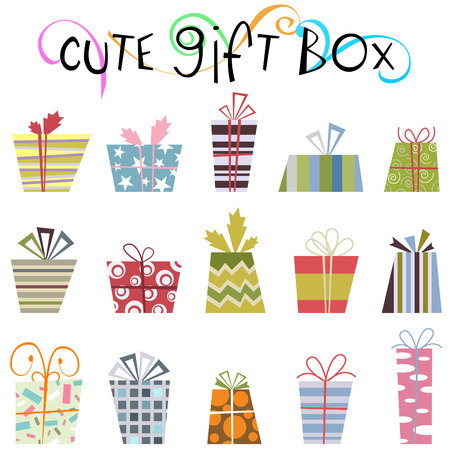contrast floral: cute gift box
