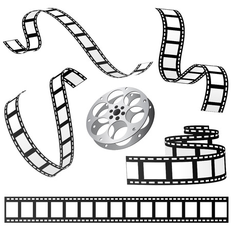 reel: set of film and roll  Illustration