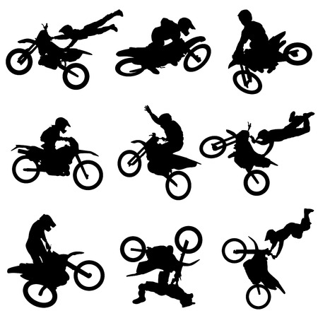 motocross race: motorcycle set