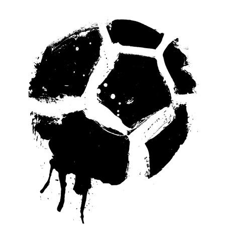 grunge soccer ball  Stock Vector - 8967439
