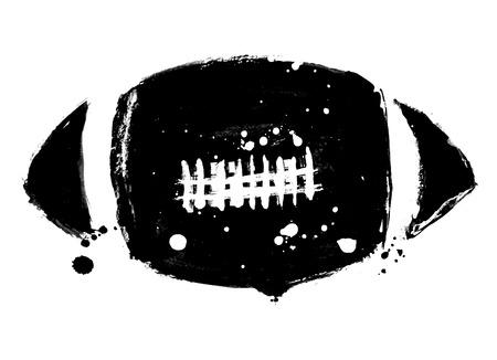 american football ball: grunge american football