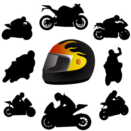 sports helmet: motorcycle  Illustration
