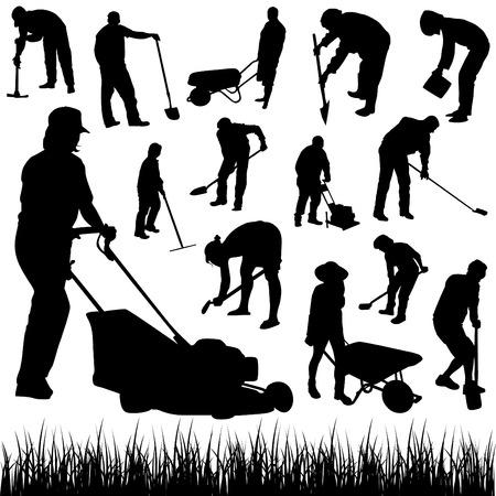 jardineros: vector de jardinero