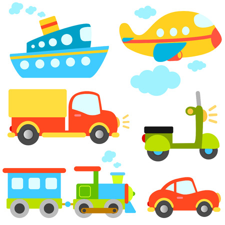 Cartoon voertuigen vector  Vector Illustratie