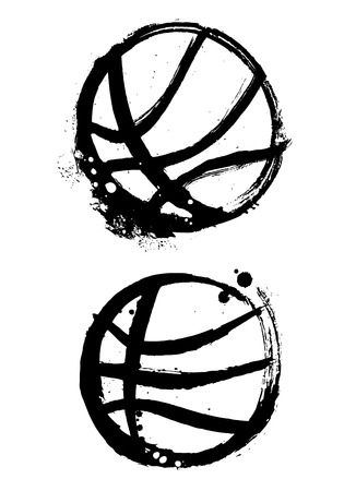 balon baloncesto: vector de baloncesto grunge