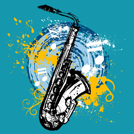 saxophone design  Illustration
