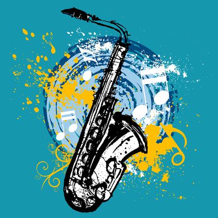 saxophone design  Vector