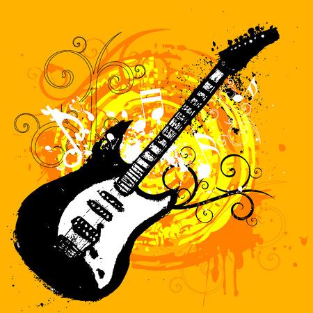 guitar design Stock Vector - 8922399