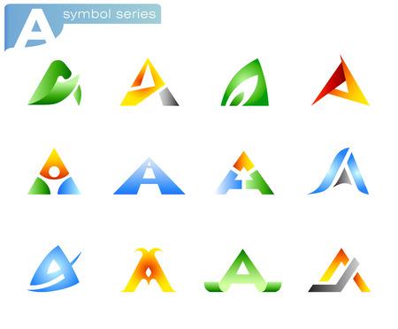 alphabet A symbols  Stock Vector - 8922320
