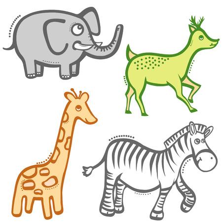 cartoon animals Stock Vector - 8922365