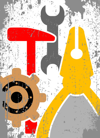 dientes sucios: Fondo de herramientas  Vectores