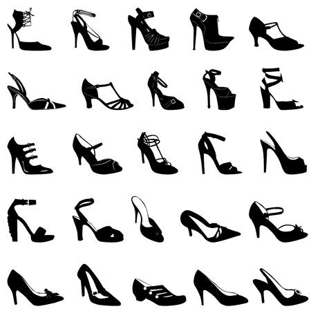 fashion item: fashion shoes  Illustration