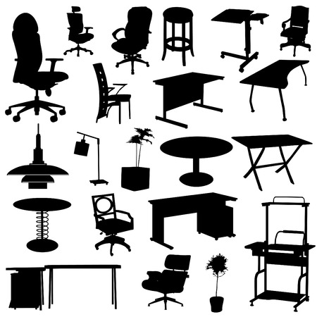 modern office: office furniture set  Illustration