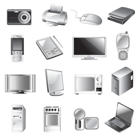 electronic icon set Stock Vector - 8922397