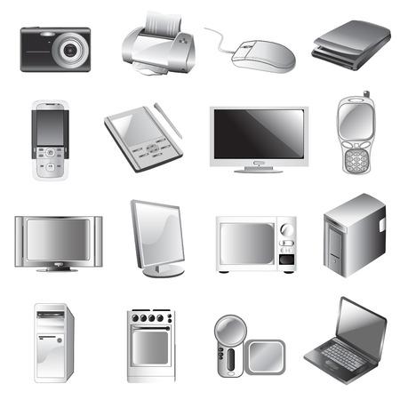 electronic icon set Stock Vector - 8922397