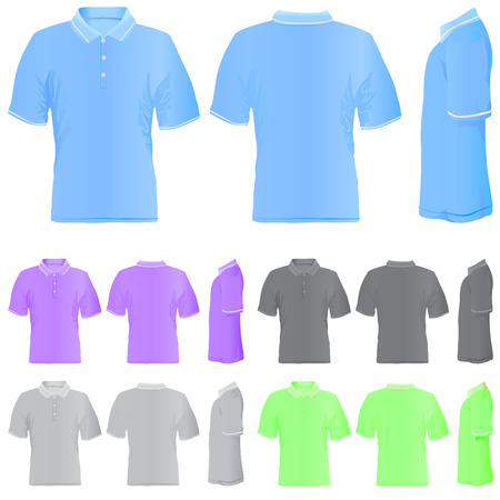 t shirt (5 different colors)  Stock Vector - 8922387