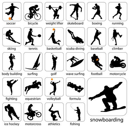 voetbal silhouet: sport silhouetten