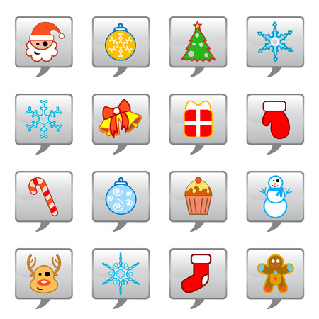 christmas icon set  Stock Vector - 8922381