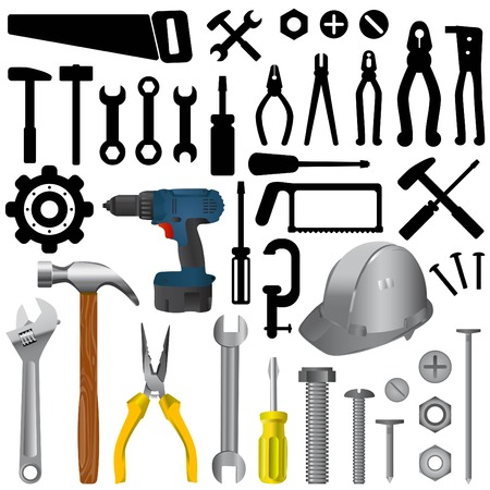 tools big set  Stock Vector - 8922378