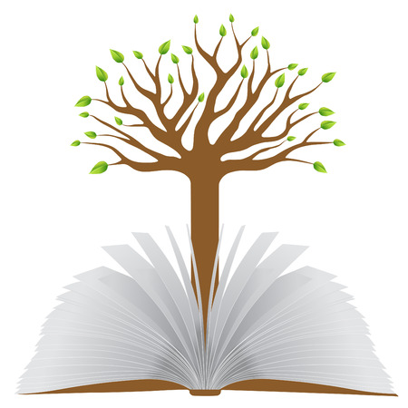 story book: book with tree