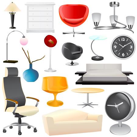 interior objects big set Stock Vector - 8922392