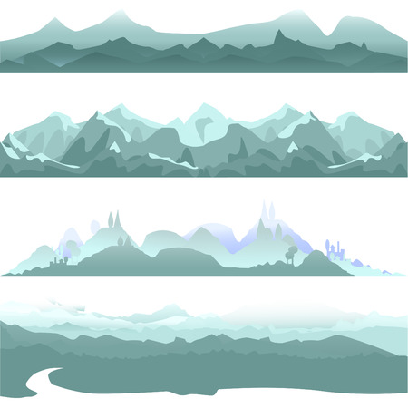 plains: mountain vector  Illustration