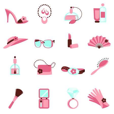 make up brushes: women objects icon