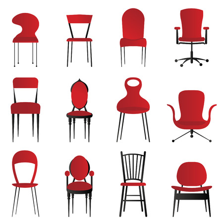 office chair: red chairs