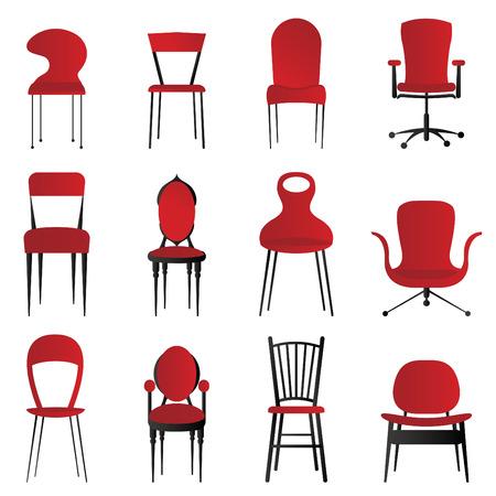 Stuhl: rote St�hle  Illustration