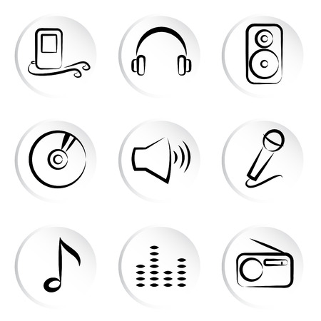 music icons  Stock Vector - 8922322
