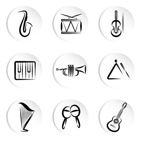 harfe: Musikinstrumente  Illustration