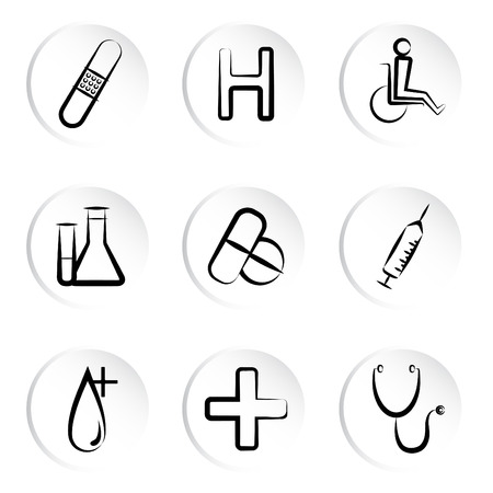 medical icons Stock Vector - 8922323