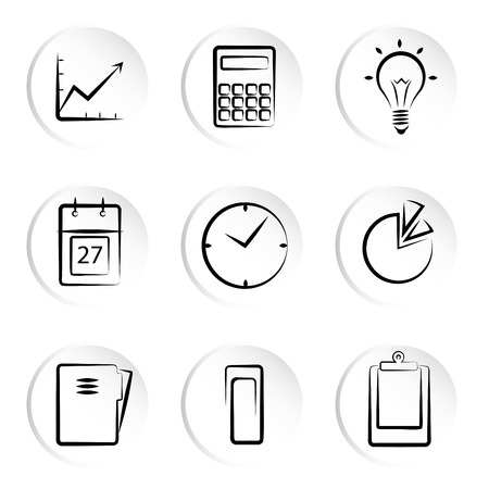 business icons  Stock Vector - 8922326