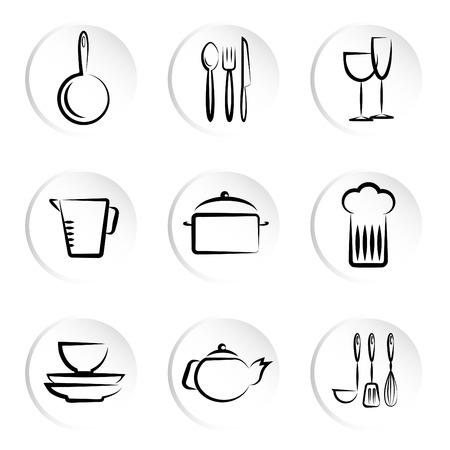fork glasses: icone oggetto cucina