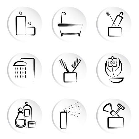 bathroom icons  Stock Vector - 9060022