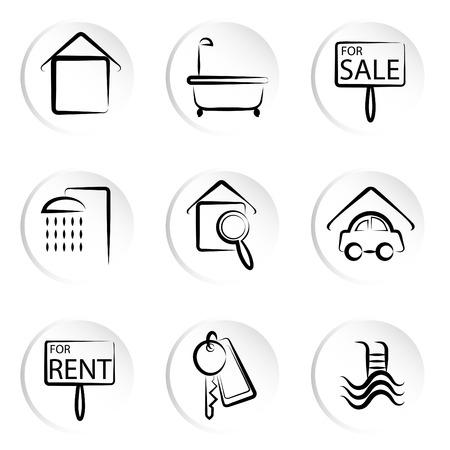 washbowl: house icons