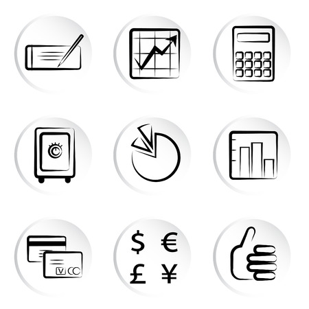 finance icons Stock Vector - 9060021