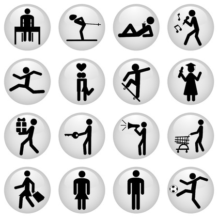 people icons Stock Vector - 9060006